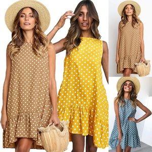 ae58d736194 Dresses   Skirts - Polka dot loose dress